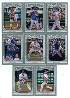 2013 Texas Rangers Topps GYPSY QUEEN Baseball Complete Mint 8 Basic Card Team Set; It Was Never Issued in Factory Form. Cards Included Are #2 Joe Nathan, #3 Adrian Beltre, #76 Jurickson Profar, #101 Mikeolt, #178 David Murphy, #245 Derek Holland, #314 Nels