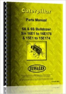 Caterpillar D6 Attachment Crawler (4R1 4R3633, 9U1 & up) 6A, 6S Bulldozer Attch (16E1 16E178 or 15E1 15E174) Parts Manual: Jensales Ag Products: Books