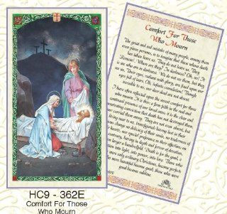 Jesus Laying in Tomb. Comfort For Those Who Mourn.Laminated 2 Sided Holy Card (3 Cards per Order): Everything Else
