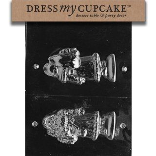 Dress My Cupcake DMCC177 Chocolate Candy Mold, 3D Santa, Christmas: Kitchen & Dining