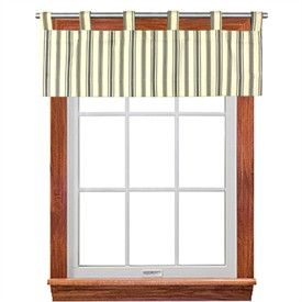 Discount Stripe Tab Top Valance