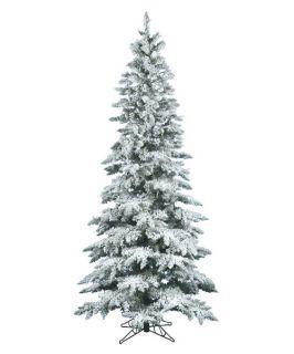 Vickerman 9 ft. Flocked Slim Utica Fir Christmas Tree   Christmas Trees