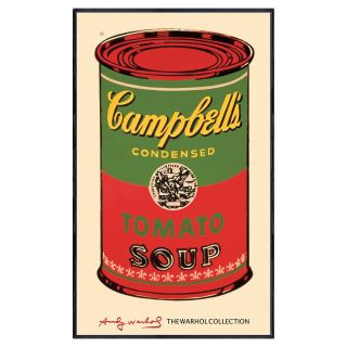 Andy Warhol   Campbells Soup Can   c. 1965   Green/Purple/Red   40.5 x 24.5 in.   Framed Wall Art