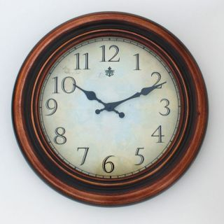 Ashton Sutton James 17 in. Metal Wall Clock with Copper Finish   Wall Clocks