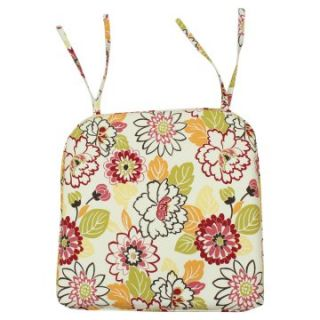 Maya Poppy 17 x 17 in. Pleated Foam Seat Cushion   Dining Chair Cushions