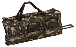 Rockland 40 in. Rolling Duffel   Camo   Backpacks and Duffle Bags