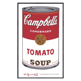 Campbells Soup I Tomato   1968   40 x 24 in.   Framed Wall Art