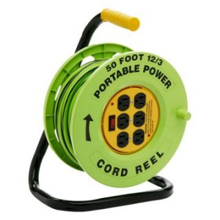 Designers Edge E 238 50 ft. Cord Reel with 6 Outlets   Equipment