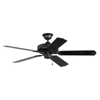 Ellington WOD52MBK5X All Weather 52 in. Outdoor Ceiling Fan   Matte Black   Outdoor Ceiling Fans