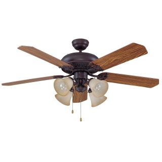 Ellington E MAN52ABZ5C4 Manor 52 in. Indoor Ceiling Fan   Aged Bronze   Ceiling Fans