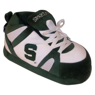Comfy Feet NCAA Sneaker Boot Slippers   Michigan State Spartans   Mens Slippers