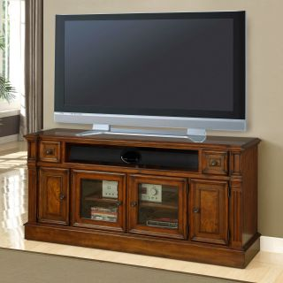 Parker House Toscano 62 in. TV Console   Antique Vintage Dark Chestnut   TV Stands