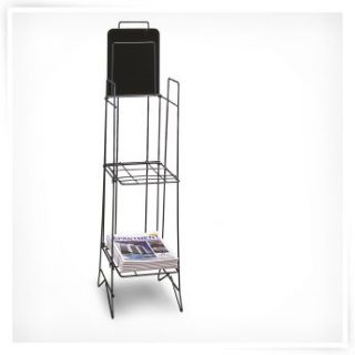 Black 3 Pocket Magazine Rack   Commercial Magazine Racks