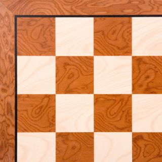 Rare Bubinga and Maple Chess Board   Chess Boards