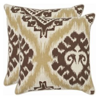 Safavieh Joyce Decorative Pillows   Almond   Set of 2   Decorative Pillows