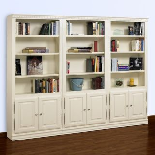 A & E Hampton 84 Inch Wall Bookcase with Doors   Bookcases
