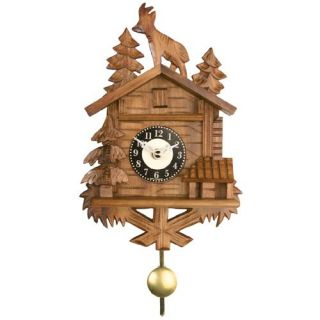 8 Inch Roof Top Billy Goat Black Forest Cuckoo Clock   Cuckoo Clocks