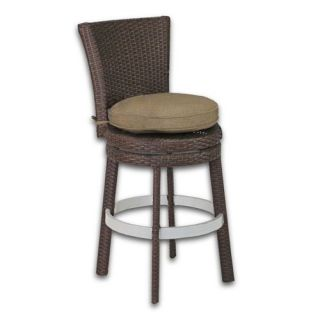 Patio Heaven Signature Swivel Round Barstool   Outdoor Bar Stools