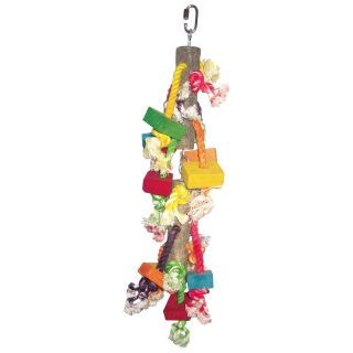 A&E Cage Co. Medium Wood and Blocks Bird Toy   Bird Cage Accessories