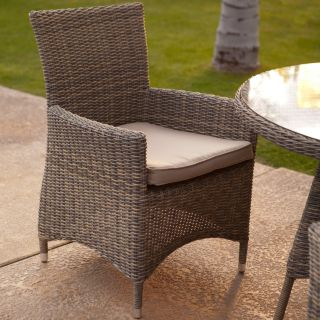 Belham Living Bella All Weather Wicker Patio Dining Chair   Set of 2   Patio Dining