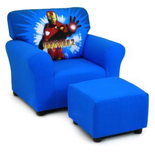 Kidz World Iron Man 2 Club Chair and Ottoman Set   Seating