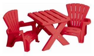 American Plastic Toys Adirondack Table and Chair Set   Seating