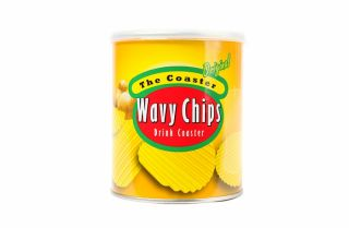Wavy Chips Coasters   BustedTees