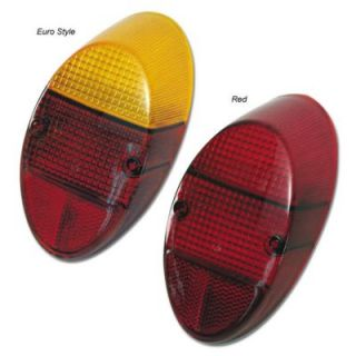 1964 1966 Volkswagen Beetle Tail Light Lens   EMPI, Direct fit, Red, Plastic