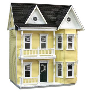 Real Good Toys Finished Princess Anne Dollhouse   Yellow   Collector Dollhouse Kits