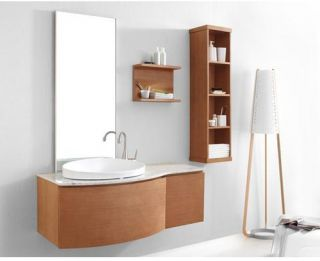 Virtu USA Isabelle 48 in. Single Sink Bathroom Vanity Set   Chestnut   Single Sink Bathroom Vanities
