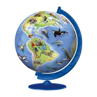 World's Endangered Species 8 in. 180 Piece Puzzle Globe   3D Puzzles