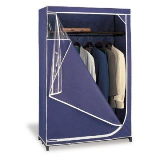 Neu Home Deluxe Storage Wardrobe   Navy with White Trim   Closet Organizers
