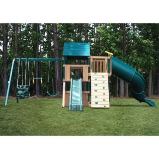 Congo Explorer Treehouse Climber Playset   Green and Sand   Swing Sets
