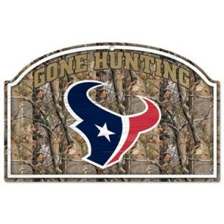 Houston Texans 17 x 11 Realtree Camo Gone Hunting Wooden Sign