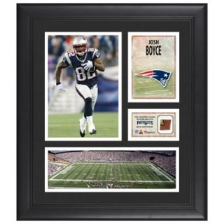 Josh Boyce New England Patriots Framed 15 x 17 Collage with Game Used Football