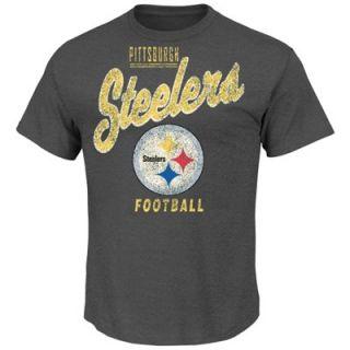 Pittsburgh Steelers Inside the Line III T Shirt   Charcoal