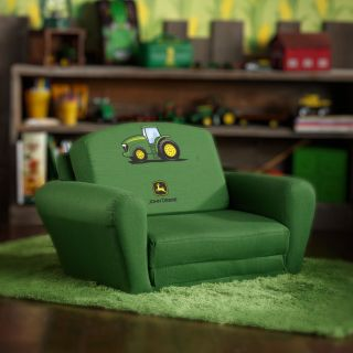 Kidz World John Deere Green   Boys Club Chair   Kids Arm Chairs
