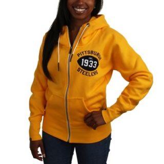 Nike Pittsburgh Steelers Ladies S Series Full Zip Hoodie   Gold