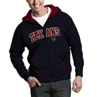 Antigua Houston Texans Resist Full Zip Hoodie   Navy Blue