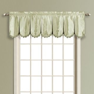 United Curtain Anna Lined Faux Silk Pleated Valance   Valances
