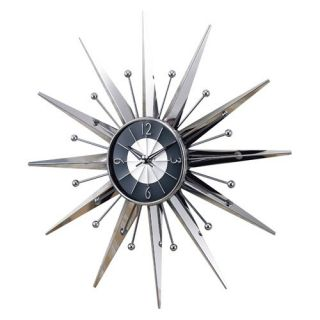 George Nelson Metal Sunray 23.5 Inch Wall Clock by Kirch   Wall Clocks