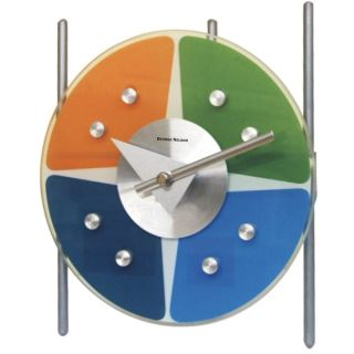 George Nelson Metal Tripod Table Clock 7 Inch Wall Clock by Kirch   Desk Accessories