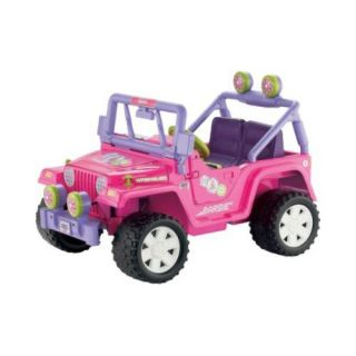 Fisher Price Power Wheels Battery Operated Barbie Jammin Jeep Riding Toy   Battery Powered Riding Toys