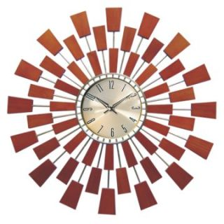 George Nelson Wooden Pixels Wall Clock by Kirch   Wall Clocks