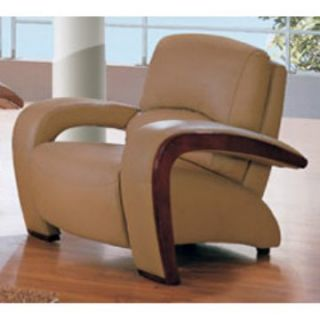 Global Furniture Pelton Tan Leather/Leather Match Chair   Modern Living Room Seating