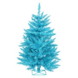 Vickerman 3 ft. Sky Blue Pre lit Christmas Tree   Christmas Trees