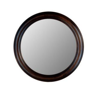 Hitchcock Butterfield Rounds Series Round Wall Mirror   772   Dark Walnut   Wall Mirrors