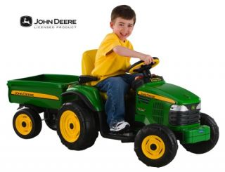 John Deere Turf Tractor with Trailer   Battery Powered Riding Toys