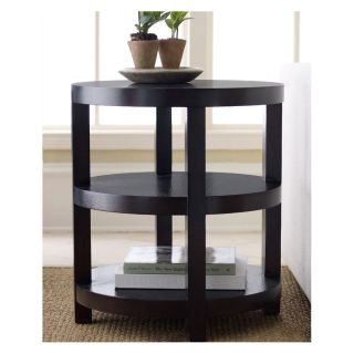 Round Espresso End Table   End Tables