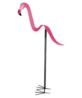 Flamingo Metal Yard Art   Outdoor Sculptures and Statues